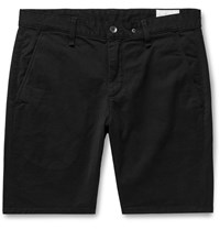 Rag And Bone Classic Slim Fit Cotton Blend Twill Chino Shorts Black