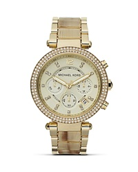 Michael Kors Faux Horn Parker Watch 39Mm Gold Horn