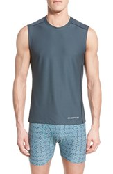 Men's Exofficio 'Give N Go Sport' Mesh Sleeveless T Shirt Phantom