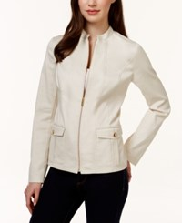 Charter Club Solid Front Zip Blazer Only At Macy's