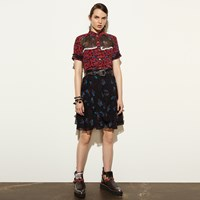 Coach Flounced Skirt Black
