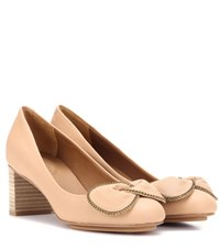 See By Chloe Leather Pumps Beige