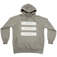 Tatlim Official White Block Hooded Sweater Grey