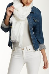 Halogen Lightness Scarf White