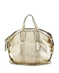 Cassie Convertible Leather Tote Bag Platinum White Oryany