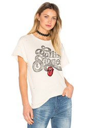 Madeworn Rolling Stones Patch Tee Cream
