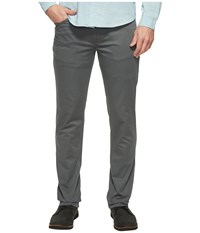 Kenneth Cole Slim Sateen Five Pocket Pants Dim Grey Men's Casual Pants Gray