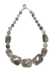 Lola Rose Baltazar Necklace Cloudy Quartz Grey