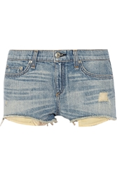 Rag And Bone Mila Distressed Cut Off Denim Shorts