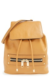 Milly 'Riley' Leather Backpack Caramel