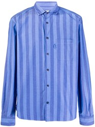 Ymc Curtis Striped Cotton Shirt 60