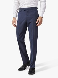 Chester Barrie By Melange Wool Travel Suit Trousers Navy