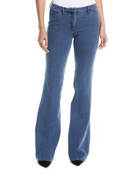 Theory Demitria 2 D Movement Flare Denim Jeans Blue