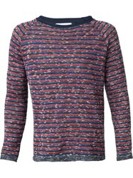 Umit Benan Striped Sweater Red