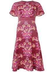 Peter Pilotto Floral Print Dress Red