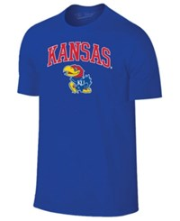 Retro Brand Men's Kansas Jayhawks Midsize T Shirt Blue