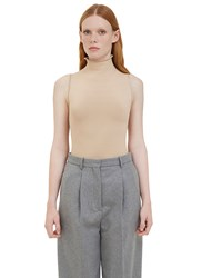 Acne Studios Riia Roll Neck Tank Top Beige