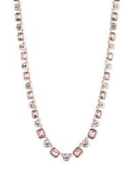 Anne Klein Stationed Collar Necklace Rose Gold