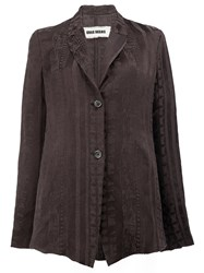 Uma Wang Flared Cut Jacket Women Linen Flax Viscose L Black