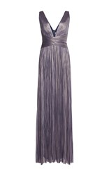 Maria Lucia Hohan Celeste Criss Cross Maxi Dress Blue