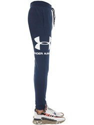 Under Armour Rival Sportstyle Logo Cotton Joggers Navy