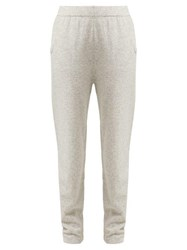 Allude Cashmere Track Pants Light Grey