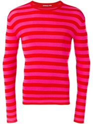 Ermanno Scervino Striped Sweatshirt Red