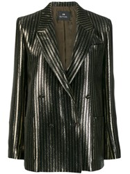 Paul Smith Ps Glittered Striped Blazer Black