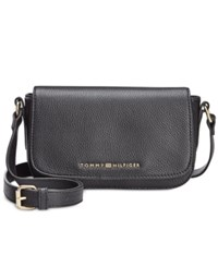 Tommy Hilfiger Claire Small Flap Crossbody Black