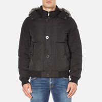 Michael Kors Men's Faux Fur Short Parka Black
