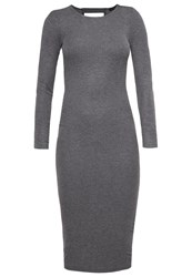 Evenandodd Jumper Dress Mottled Grey