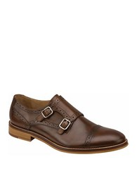 Johnston And Murphy Conrad Double Buckle Monk Strap Mahogany