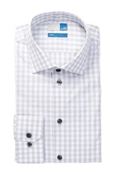 14Th And Union Spread Collar Trim Fit Dress Shirt Gray