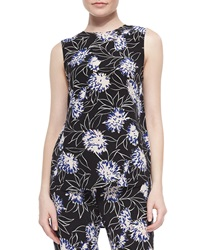 Thakoon Addition Floral Print Loose Sleeveless Top