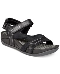 Bare Traps Delona Rebound Technology Wedge Sandals Created For Macy's Women's Shoes Black