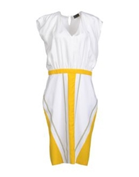 Fendi Knee Length Dresses White