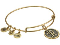 Alex And Ani Initial R Charm Bangle Rafaelian Gold Finish Bracelet