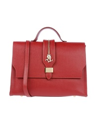 Tuscany Leather Handbags Red