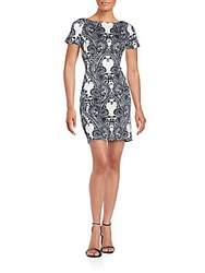 Alexia Admor Baroque Print Scuba Dress Paisley