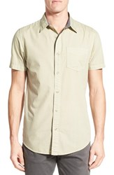 Men's Original Paperbacks 'Torino' Short Sleeve Woven Shirt Aloe