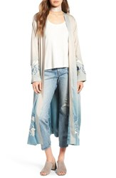 Majorelle Women's Silversage Embroidered Duster Jacket