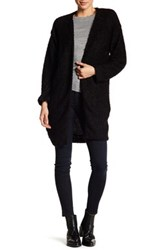 14Th And Union Nepped Knit Open Front Cardigan Black