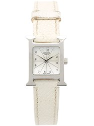 Hermes Vintage Analog Wrist Watch White