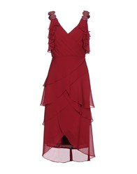 Musani Couture Knee Length Dresses Maroon