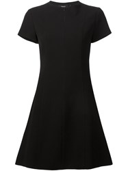 Theory Short Sleeve Mini Dress Black