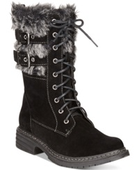 Wanted Pilsner Lace Up Faux Fur Booties Women's Shoes