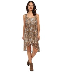 Roper 0223 Leopard Print Chiffon Dress Brown Women's Dress