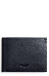 Shinola Men's Slim Bifold Leather Wallet Blue Ocean