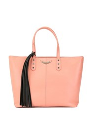 Zadig And Voltaire Mich Grained Tote Bag Pink