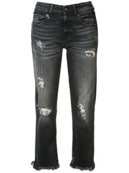 R 13 R13 Cropped Jeans Black